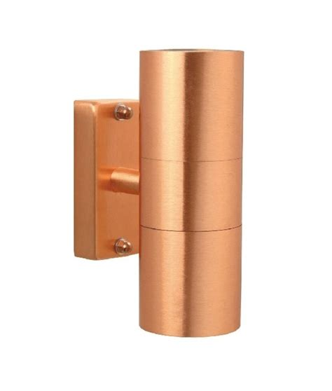 brushed copper up and wall light