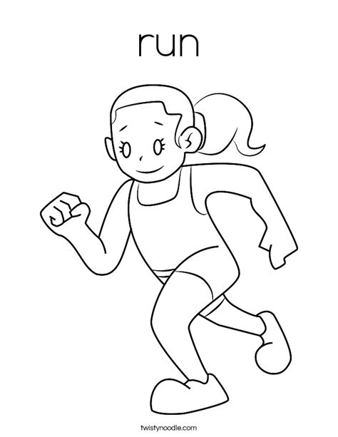Running Coloring Pages free running coloring pages