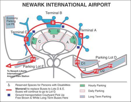 New York Newark Airport Map by New York Map Newark Airport