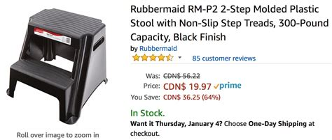 Rubbermaid 2 Step Molded Plastic Step Stool by Canada Deals Save 64 On Rubbermaid 2 Step Molded Plastic Stool 23 On Chefman Coffee