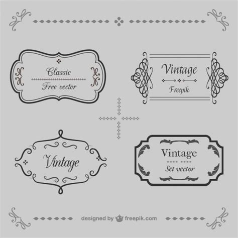 cornici vintage ornamental vintage frames vector free