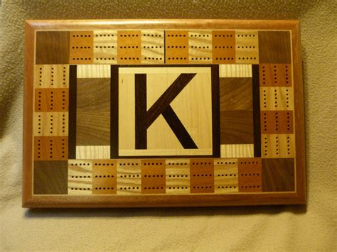 Handcrafted Cribbage Boards - cribbage board custom k by woodartandmore on etsy