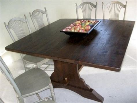 60 Square Dining Table Seats 8 Square 60 Quot Reclaimed Oak Trestle Dining Table Farmhouse Dining Tables Boston By