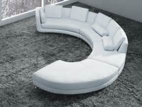 White Curved Sofa White Bonded Leather Curved Sectional Sofa Set Modern Living Room Los Angeles By Eurolux