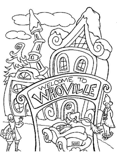 whoville coloring pages whoville coloring page grinch day pinterest