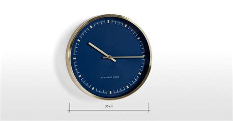 best made wall clock pickett wall clock brushed brass and navy blue made com