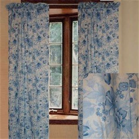 jcpenney floral blue curtain set 84l window
