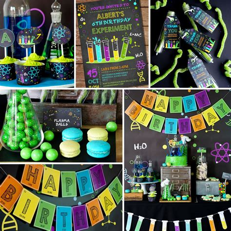 printable science party decorations celebrating einstein s 137th birthday with a fun science