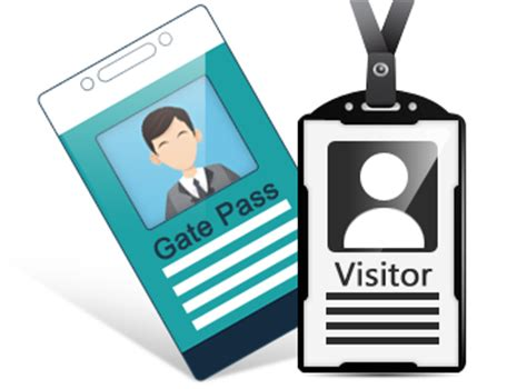 pattern visitor exle screenshots of gate pass id cards maker to create visitors