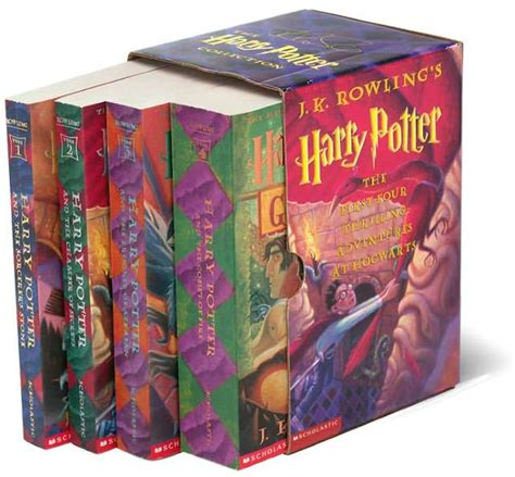 harry potter paperback box harry potter paperback boxed set books 1 4 by j k rowling mary grandpr 233 paperback