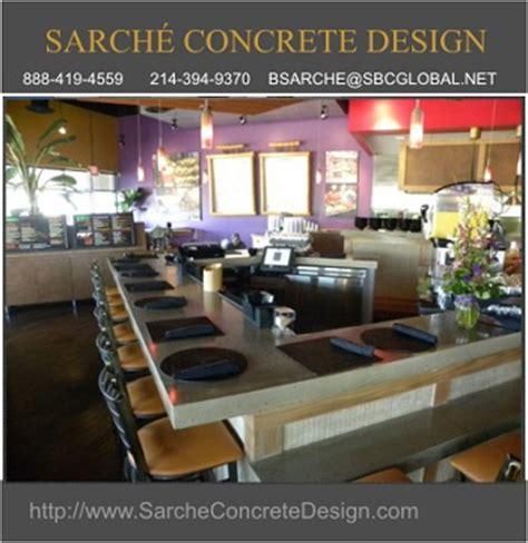 sarche concrete design announces unique countertops in the