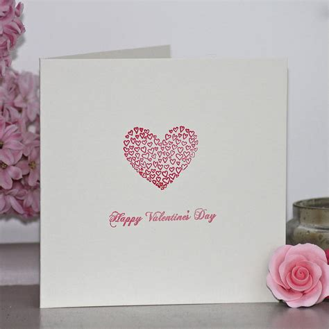 Valentines Day Handmade Cards - handmade hearts s day card by chapel cards
