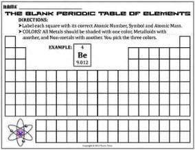 Th Element Periodic Table Worksheet Blank Periodic Table By Travis Terry Tpt