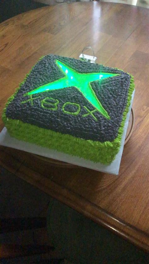 xbox themed birthday cake xbox cake i made for my sons best friend s 10th birthday