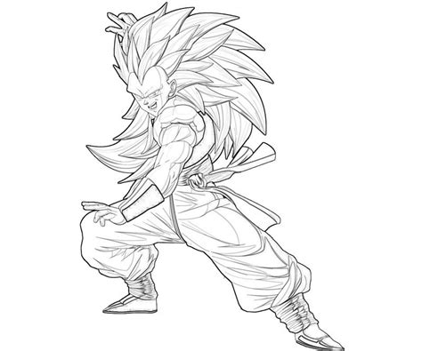 ssj goten free coloring pages