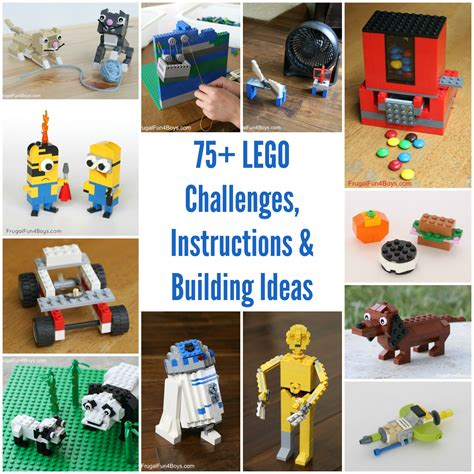 lego challenges for children 50 lego building projects for frugal for boys