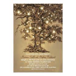 tree wedding invitations vintage string lights tree rustic wedding invites 5 quot x 7
