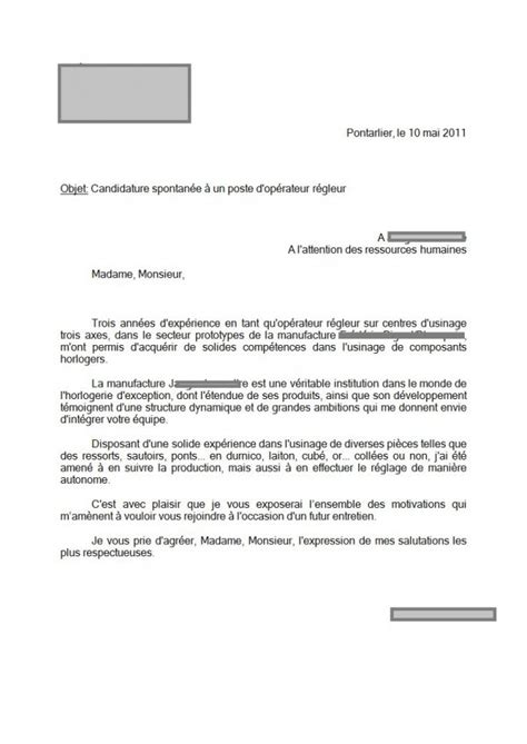 exemple lettre de motivation kiabi document