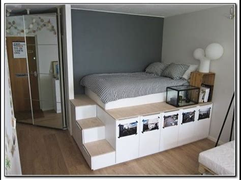 full size platform bed  storage youtube