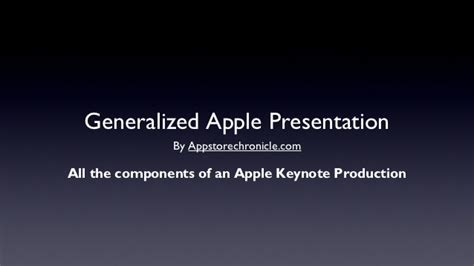 apple ppt template a generic apple quot steve quot style keynote address