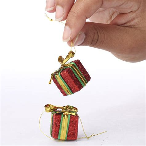 miniature red gift box ornaments christmas ornaments