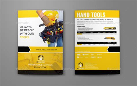 catalog sle template tools products catalog bi fold brochure template by