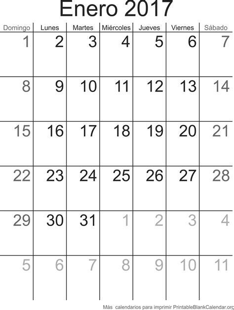 Calendario Mes De Enero 2017 Enero 2017 Calendario Para Imprimir Calendarios Para