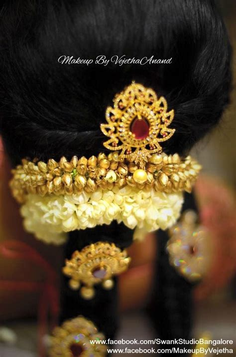 hair accessories for indian brides up of a south indian s hair hairstyle by