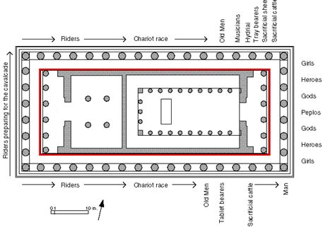floor plan of the parthenon the parthenon ars artistic adventure of mankind