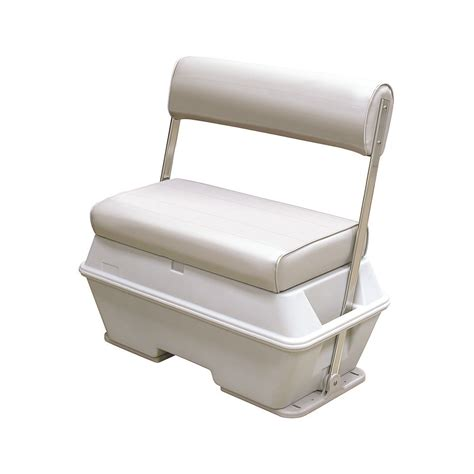 pontoon boat seat care wise pontoon seats flip flop swingback seats and coolers