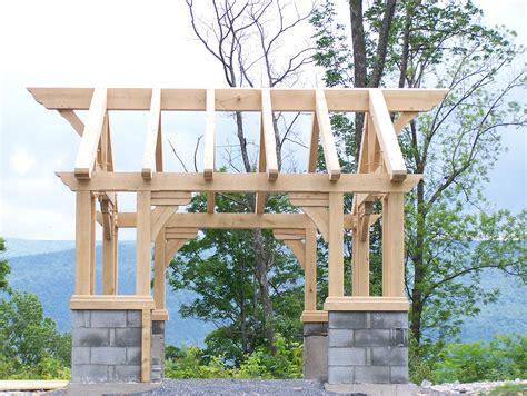 gazebo frame the timber frame gazebo green mountain timber frames