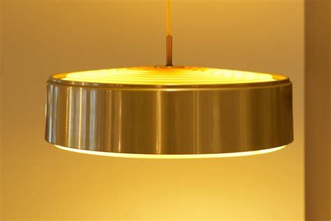 large brass ceiling light by nordisk solar compagni