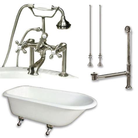 cast iron bathtub faucets cast iron rolled rim clawfoot tub 61 quot x 30 quot faucet pkg 6