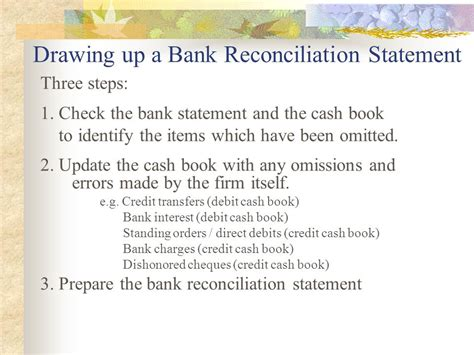 Bank Statement Of Standing Bank Reconciliation Statement Ppt