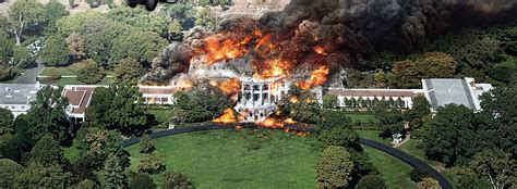 white house burned down white house down flip the truck