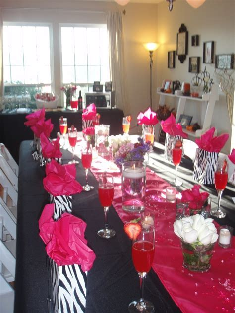 hot pink and zebra print bridal shower turned out just