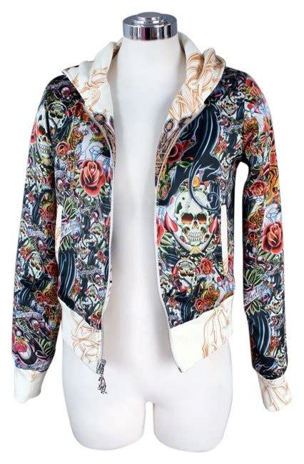 reversible tattoos christian audigier reversible jacket sweatshirt