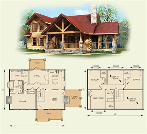 log cabin floor plans with garage i ll take this with a basement and a detached 2 car garage