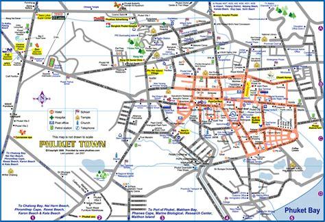 town map map of phuket town large detailed map phuket town map of