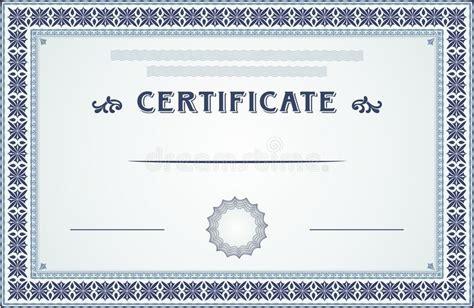 certificate design elements vector certificate border and template design stock vector
