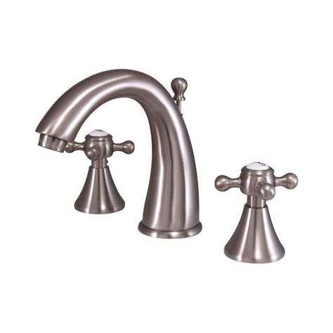 Country Style Bathroom Faucets Shop Elements Of Design Country Satin Nickel 2 Handle Widespread Bathroom Sink Faucet At