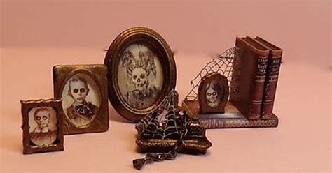 haunted doll that aged dollhouse miniature 1 12 haunted desk accessories aged