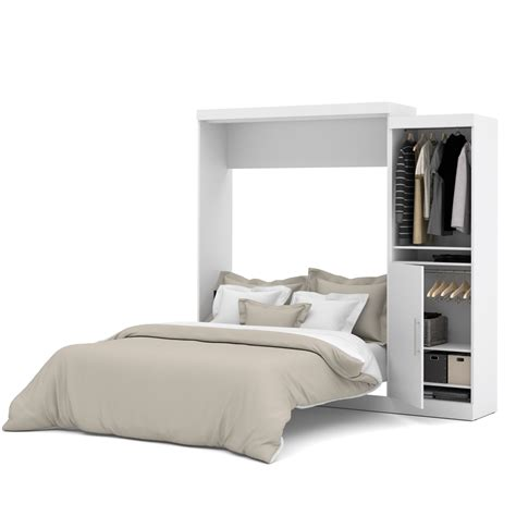 queen wall bed nebula 90 quot queen wall bed kit in white