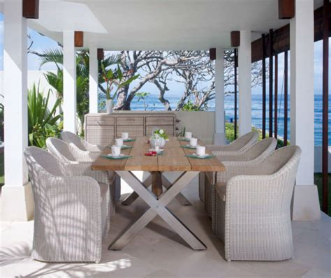 Houzz Outdoor Dining Room Nautic Teak Dining Table From Skyline Design