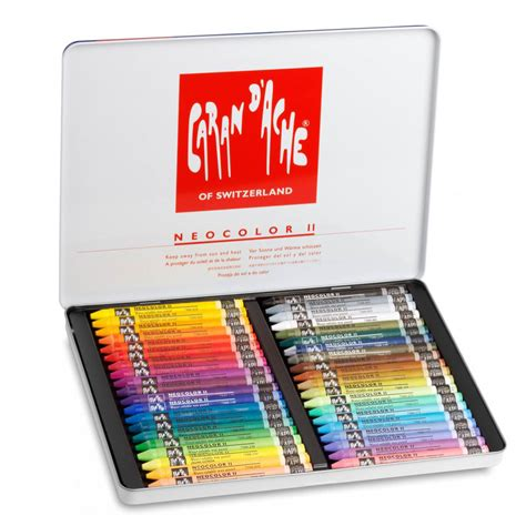 Crayon Carandache 40 Neocolor 1 jual caran d ache neocolor ii isi 40 baru crayon