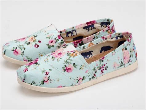 summer flower print canvas shoes shoes