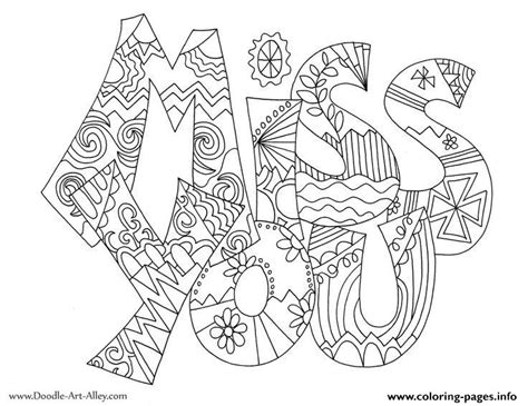 I Miss You Valentines Coloring Pages Printable I You And Coloring Pages