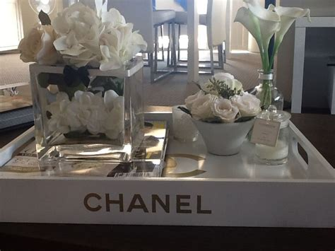 chanel tray living room coffee table apartment decor
