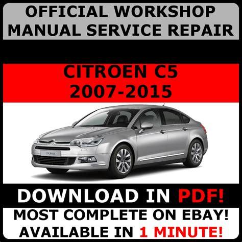 Official Workshop Service Repair Manual For Citroen C5