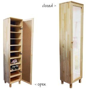 Narrow Shoe Storage Cabinet Pine Shoe Storage Cabinet With Mirror For Up To 10 Pairs Of Shoes Co Uk Kitchen Home